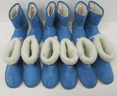 Boots 20 pairs Girls Blue Fleece Lined assorted sizes  wholesale Lot  children's