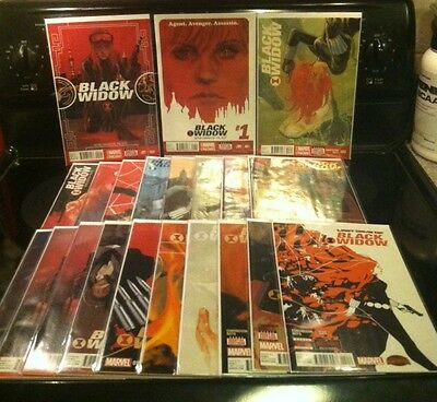 Large BLACK WIDOW Lot Marvel Now Full Set 1-20 & Current Series + Variants 60BKs
