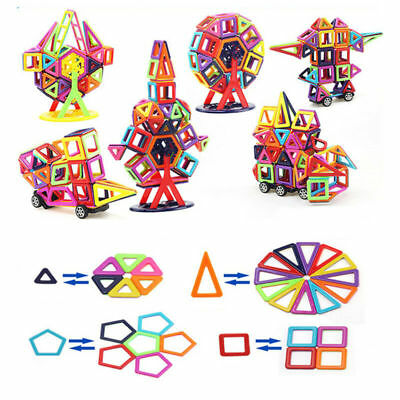40-166x Kids Magnetic Blocks Building Toys For Magnet Tiles Kits Christmas Gifts