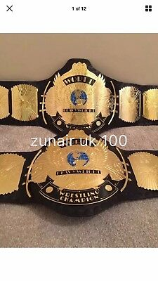 WWF Replica Winged Eagle Championship Leather Title Belt Adult size With Case