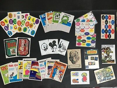 Trading Card Stickers Lot Of 30