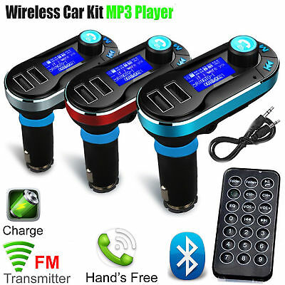 New Bluetooth Car Kit Wireless FM Transmitter 2 portUSB Charger Audio MP3 Player