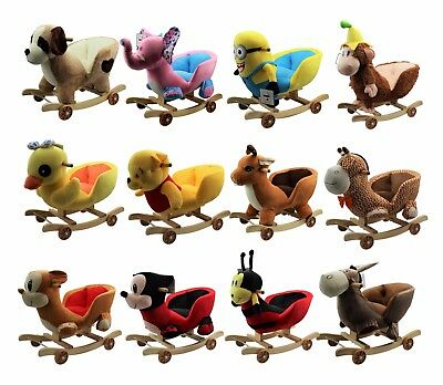 Kids Childrens Animal Rocker Rocking Toddler Infant Baby Toy Gift Roller Seat