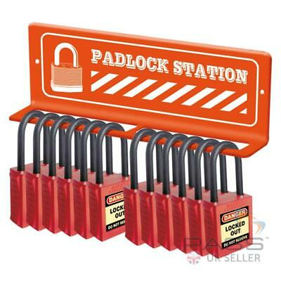 Mini Lockout / Tagout lock Station - Wall Mounted For 12 Locks