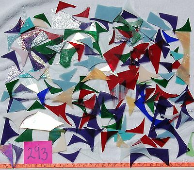 3+Pounds STAINED GLASS SCRAP PIECES Mixed Color Texture MOSAIC ART CRAFT 293