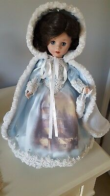 "Madame Alexander 16"" ""Thomas Kinkade"" Porcelain Doll ""dreams Of A Winter Welcome"