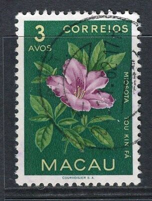 PORTUGAL MACAU  1953 early Flower issue fine used 3a. value