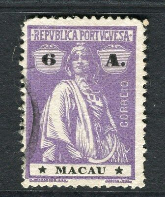 PORTUGAL MACAU  1914-20 early Ceres issue fine used 6a. value