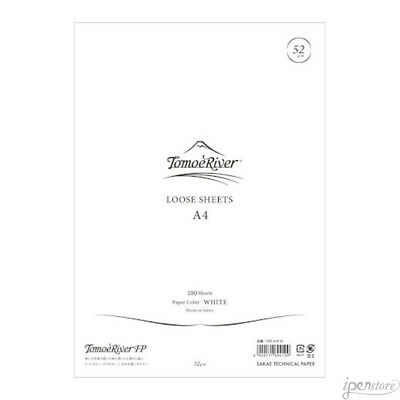 """Tomoe River A4 (8.27"""" x 11.7"""") Loose Sheets (100), 52 gsm, White"""