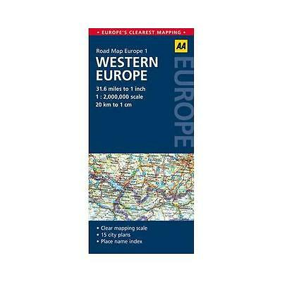 Road Map Western Europe by AA Publishing