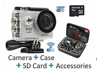 Action Camera Bundle Go Pro with 1080P HD WIFI Sports Camera 30m Waterproof SALE
