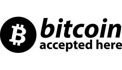 Bitcoin Accepted Here Decal Sticker Vinyl For Window Laptop Car Cryptocurrency