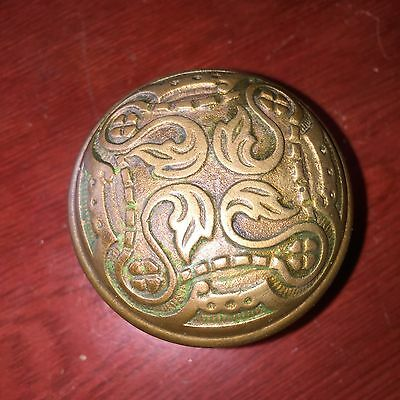 Antique Fancy Four Fold Victorian Heavy  Cast Brass Doorknob