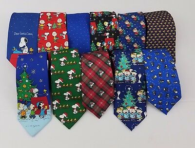 Peanuts Men's Holiday Ties Christmas Neckties One Size