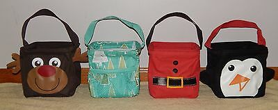 THIRTY ONE ~ Winter/Holiday ~ LITTLES CARRY ALL CADDY Reindeer, Santa, Penguin+