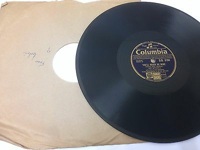 """GUY MITCHELL 10"""" 78 RPM Record. YOU'LL NEVER BE MINE **Free UK Postage**"""