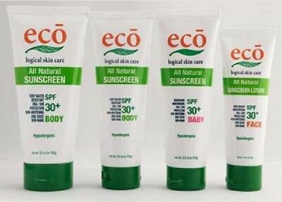 Natural Sunscreen - Body Face & Baby - Eco Logical Skin Care - Made in Australia