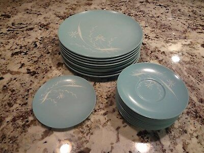 Vintage Texas Ware - Mixed Lot Of 20 - Retro Melamine Melmac - Turquoise/floral