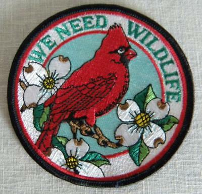 PA Game Commission WE NEED WILDLIFE Patch Red Cardinal Dogwood Blossoms No.2