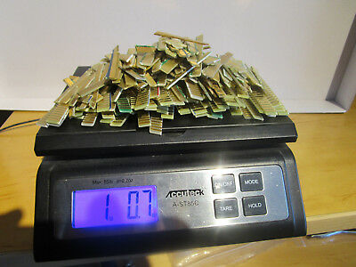 (1) Pound Computer Scrap For Gold Recovery Gold Fingers, Clean & Ready To Go