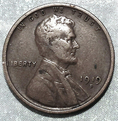 1919 S Wheat Penny VF+ CHOICE VERY FINE Brown WW1 ENDS San Francisco STORE HERE!