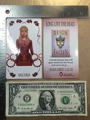(Lot of 2) Reign of the Fallen Sarah Glenn Marsh Valoria Promo Cards 2017 NYCC