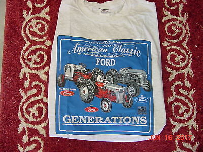 Ford Tractor Generations Blue T Shirt Sizes Available Kid 5-6 6-8 10-12