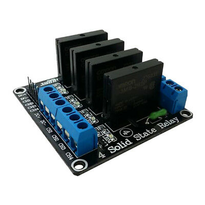 4 CH High-level Trigger Solid State Relay Module Fuse Black Board DC 5V