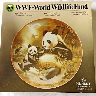 Wwf World Wildlife Fund 'giant Panda' Collector's Plate