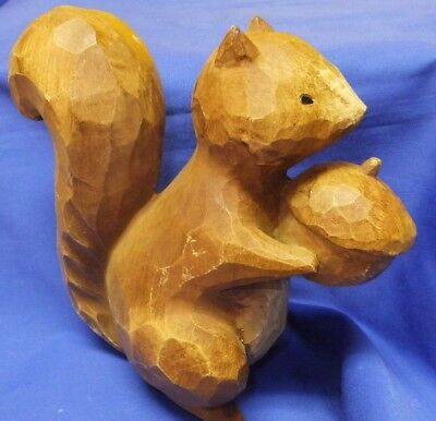 """Squirrel Holding Nut Acorn Figure 7-1/2"""" Christmas Gift Almost Life-Sized"""