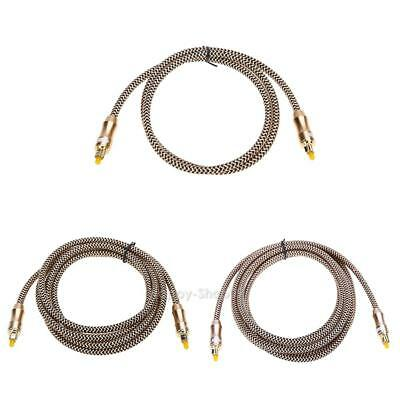 OD6.0 Toslink Cable Digital Optical Audio Cable Fiber Optic Cable Gold Snak v#h9