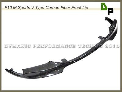 GX Type Front Lip Carbon Fiber For 11-16 BMW F10 528i 535i 550i w/ M-Sport Only