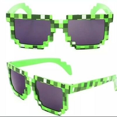 Minecraft Style Novelty Creeper Sun Glasses