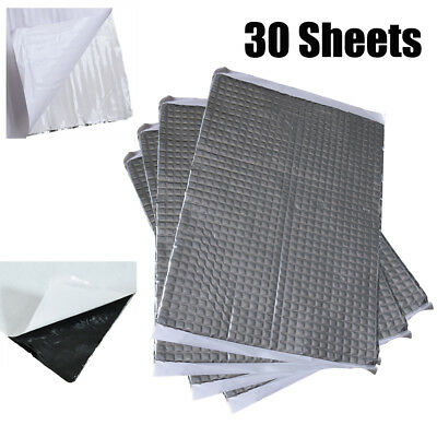 Silent 187x265x2mm 30 Sheets Pack Car Van Deadening Sound Proofing Damping Mat