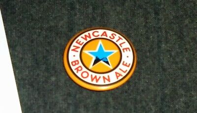 Rare Newcastle Brown Ale Beer 1970's Vintage Pinback Button