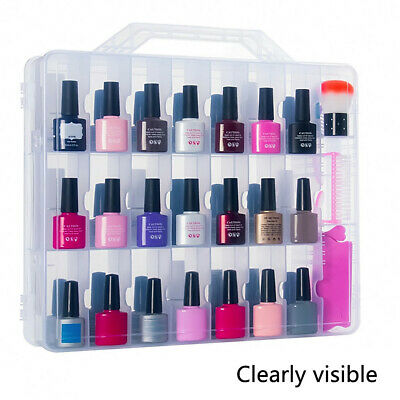 Nail Polish Storage Organizer Clear Acrylic Cosmetic Case 48 Bottles Container
