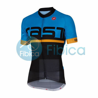 New Castelli Cycling Meta Jersey FZ Full Zip Men's Blue Black M-XXL