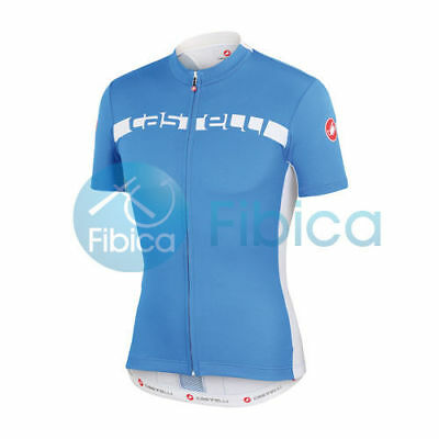 New Castelli Cycling Prologo 4 Jersey FZ Full Zip Men's Blue S-XXL