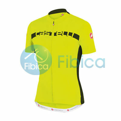 New Castelli Cycling Prologo 4 Jersey FZ Full Zip Men's Yellow M-XXL