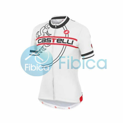 New Castelli Cycling Segno Jersey FZ Full Zip Men's White M-XL