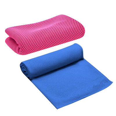 Sports Gym Ice Cold Towel 86*30cm Drying Breathable Cooling Towels- 2 Pieces