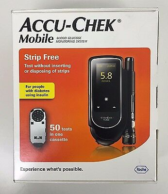 Accu Chek Mobile Blood Glucose Diabetic Monitor/Meter/System + Test Strips