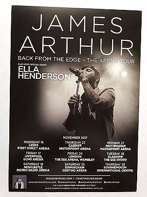 4x JAMES ARTHUR  promo FLYERS live 2017 back from the edge concert tour