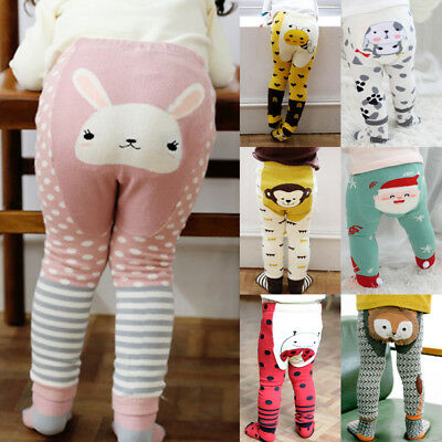 Cute Cartoon Baby Boys Girls Cotton Tights Leg Warmer Stockisng Socks 2PCS Set