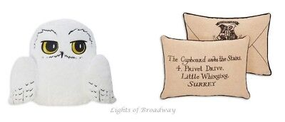 Harry Potter Hedwig Owl Hogwarts Letter Cushion Pillow Primark NEW BNWT