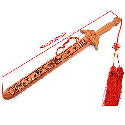 Kung Fu Tai Chi Peach Wood Sword Practice Performance Decoration Collection New
