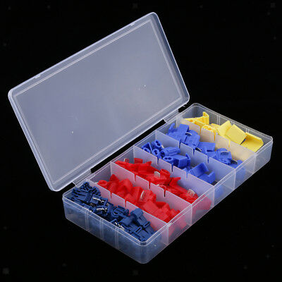 65pcs Quick Splice Wire Connector Terminal Crimp Clip for Car Wiring Cable