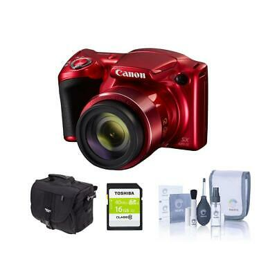 Canon PowerShot SX420 Digital Camera and Free Accessories, Red #1069C001 A