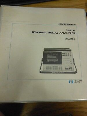 Hp 3561a dynamic signal analyzer repair page 1.