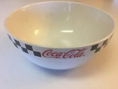 Coca-Cola Black & White Checkered Large Serving/ Mixing Bowl By Gibson 9.5""